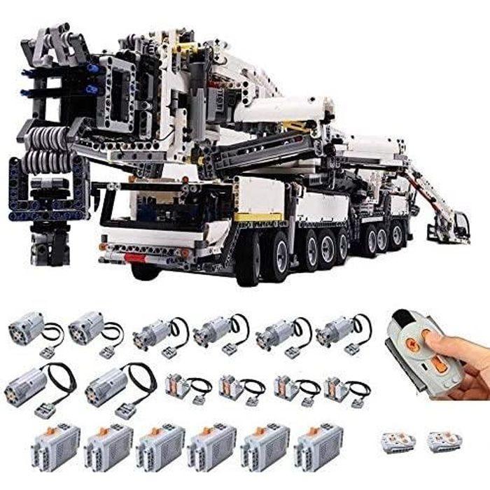 PEXL Technic Grue Liebherr LTM 11200 - 7692 Brique et 8 Moteur - 1:20 Maquette RC Grue Tout Terrain - Jeu de Construction - Tec A475