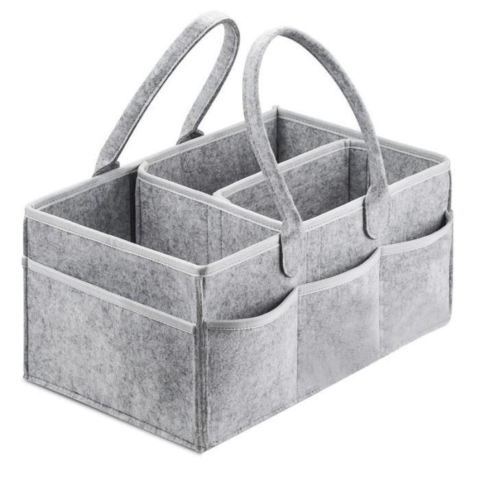 Boîte de rangement pour porte-couches pour bébé, vous pouvez transporter des bagages pour les tables à langer et les voitures