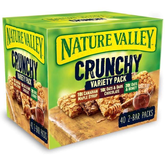 Nature Valley - Barres Granola Crunchy Pack de 40 barres x 42 g - Format economique