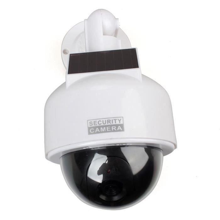 Dôme CCTV Surveillance Accueil Dummy Caméra Solaire Alimenté w - Clignotant Capteur LED