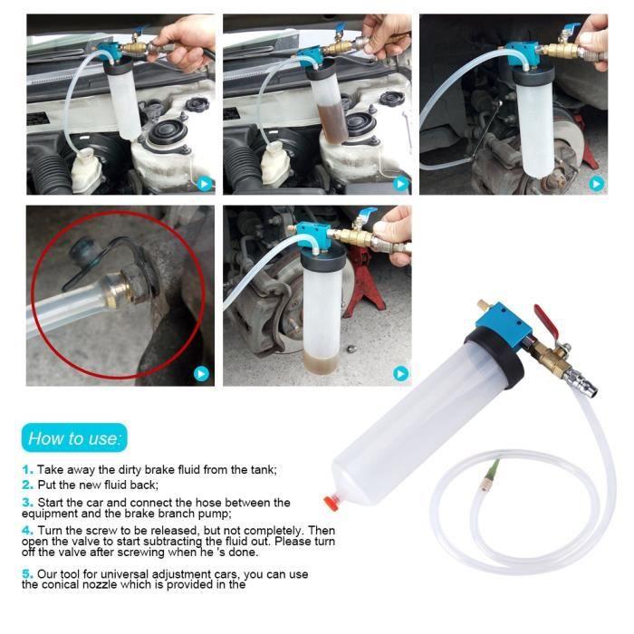 Kit de vidange vide de vidange d'huile de pompe de vidange d'huile de liquide de frein de voiture automatique -CYA