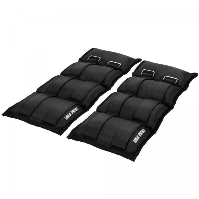 Gorilla Sports - Bandes lestées pour poignets ou chevilles - 2x4kg