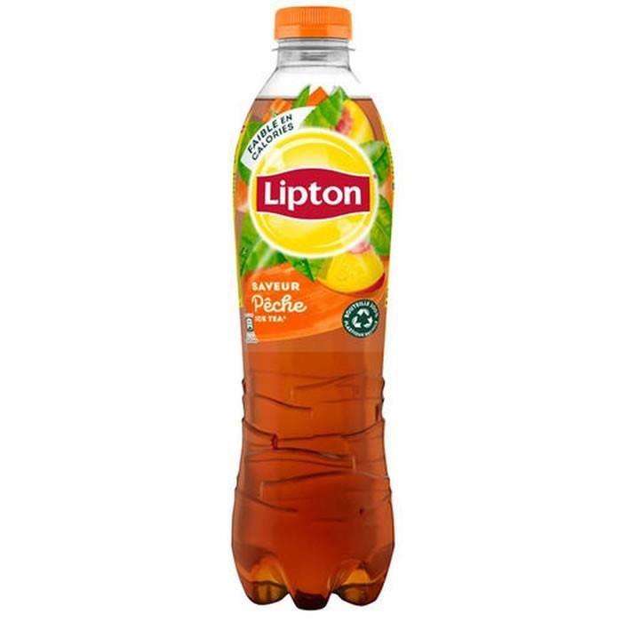 LOT DE 10 - LIPTON : Ice tea - Boisson aux extraits de thé arôme pêche 1,5 L