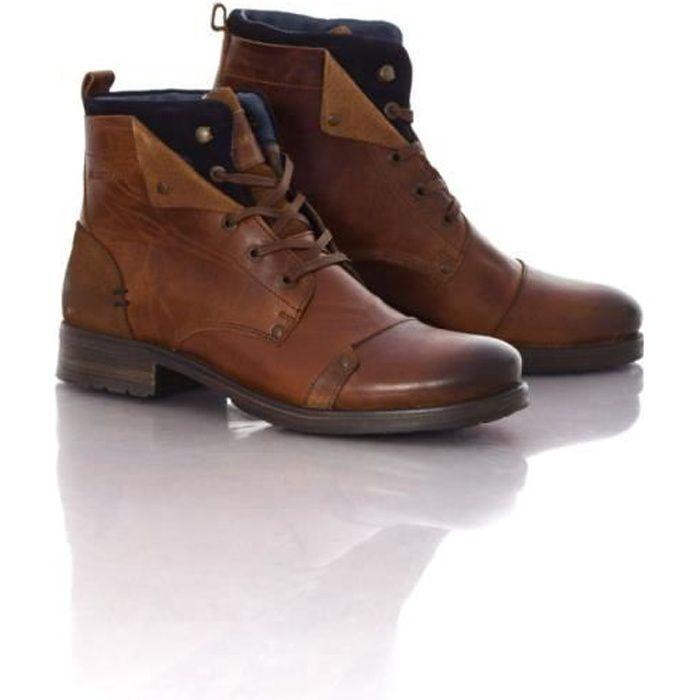 chaussures hommes redskins yedes cognac/marine 39