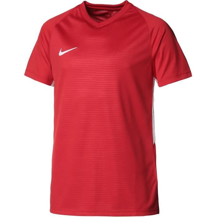 NIKE Maillot de football Dri-FIT Tiempo Premier - Homme - Rouge et blanc