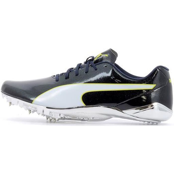 Chaussures à pointes d'athlétisme Puma EvoSpeed Electric 7 coloris Black - Blazing Yellow - White
