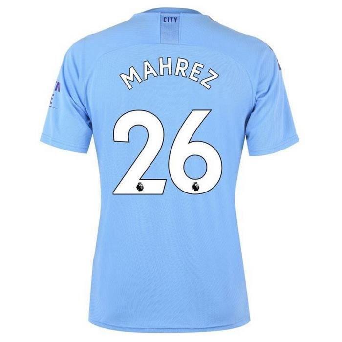 Nouveau Maillot Puma Homme Manchester City Domicile Flocage Officiel Mahrez Numéro 26 Saison 2019-2020