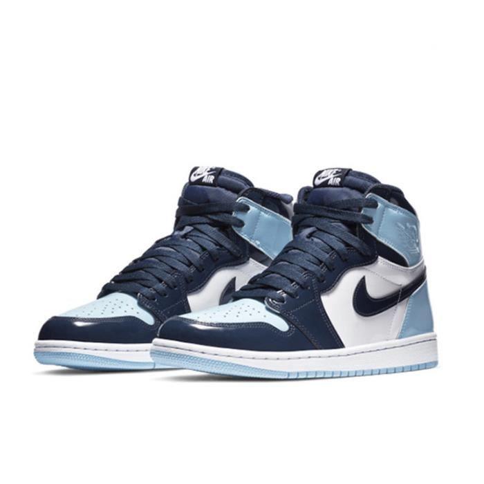 Air Jordan 1 Retro High -Blue Chill- Chaussures de Sport Basket AJ 1 Pas Cher pour Homme Femme Blue