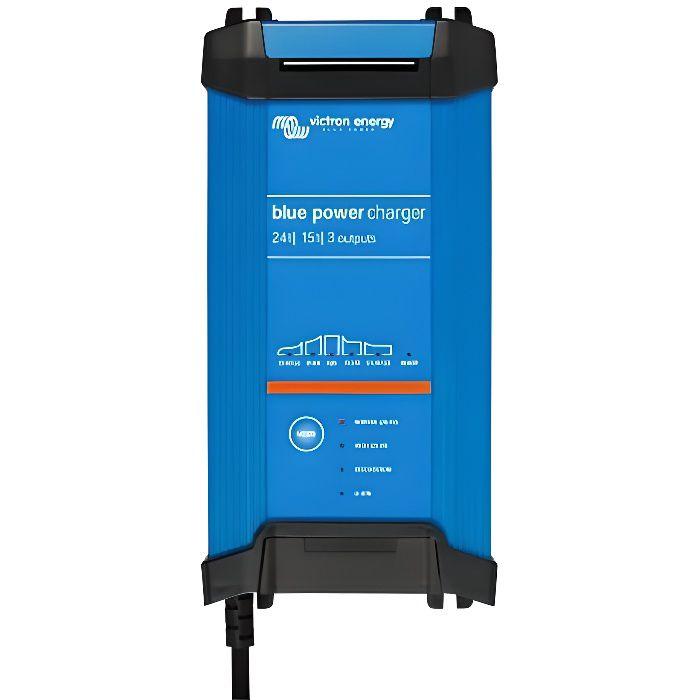 Chargeur de batterie au plomb et lithium-ion BLUE SMART 12V 15A IP22 3 sorties Victron Blue Power