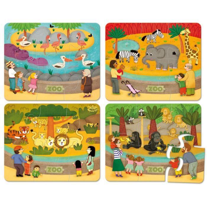 VILAC Puzzles du zoo - coffret bois