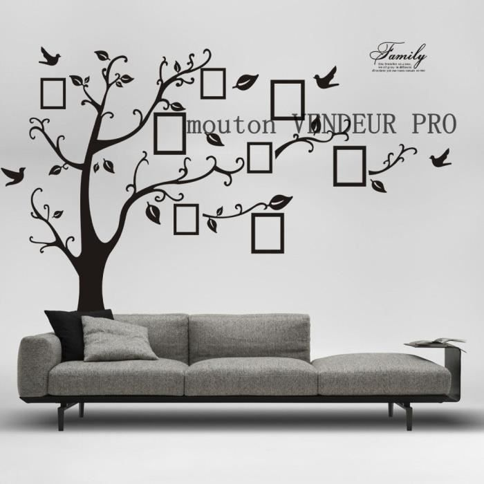 stickers muraux arbre de cadres de photos achat vente. Black Bedroom Furniture Sets. Home Design Ideas