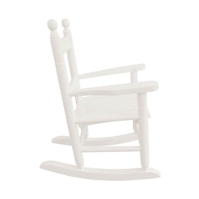 rocking chair fauteuil bascule enfant bois blanc achat vente fauteuil blanc soldes. Black Bedroom Furniture Sets. Home Design Ideas