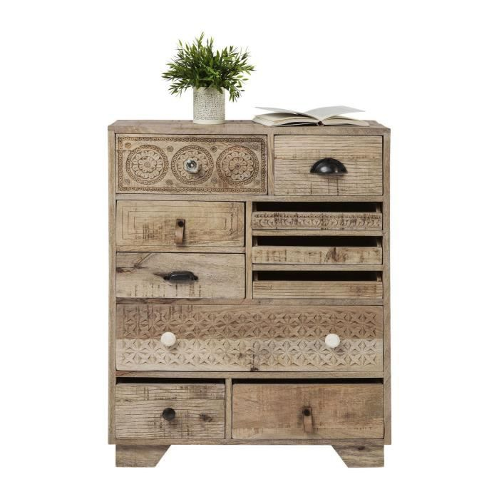 Commode puro 10 tiroirs kare design achat vente buffet for Meuble 70 cm largeur