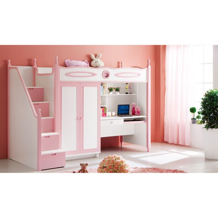 lit multifonction pour fille lili rose achat vente. Black Bedroom Furniture Sets. Home Design Ideas