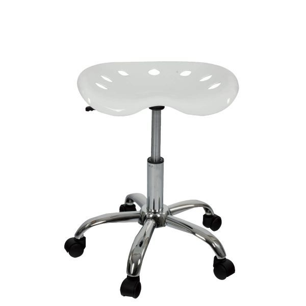 tabouret de bureau coloris blanc achat vente tabouret blanc cdiscount. Black Bedroom Furniture Sets. Home Design Ideas