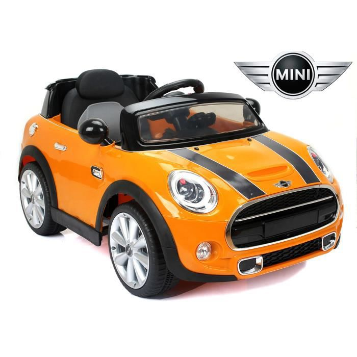 mini cooper s v hicule lectrique pour enfant et b b 12v orange version luxe achat vente. Black Bedroom Furniture Sets. Home Design Ideas