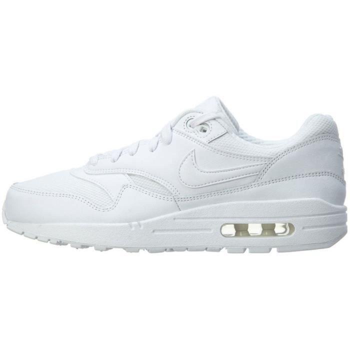 Nike Air Max 1 Triple White Blanc - Cdiscount Chaussures