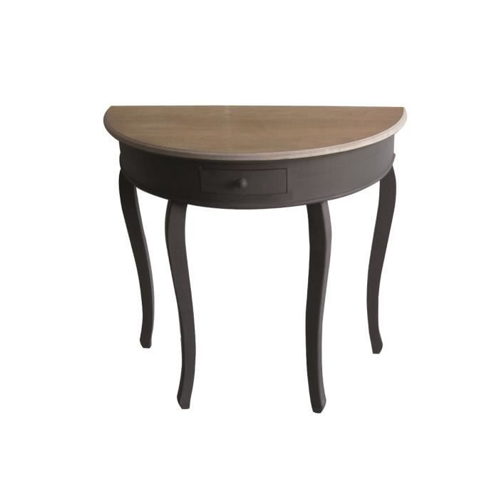 Table demi lune tobago achat vente console table demi for Table de cuisine demi lune