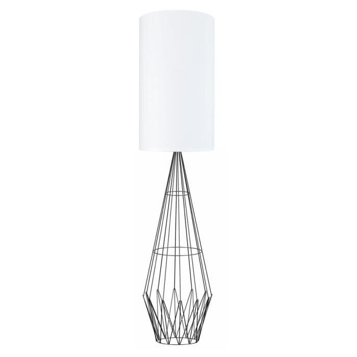 LAMPADAIRE ABERDEEN Lampadaire en acier avec abat-jour en cot