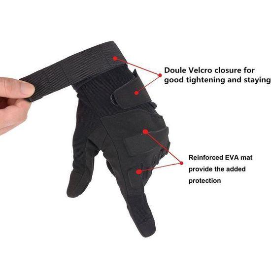 21cm 22cm Color : Brown, Gloves Size : Large XYBB Gants Tactique Militaire de larm/ée de tir Paintball Airsoft Combat v/élo en Caoutchouc de Protection Anti-Skid Gants Hommes Femmes