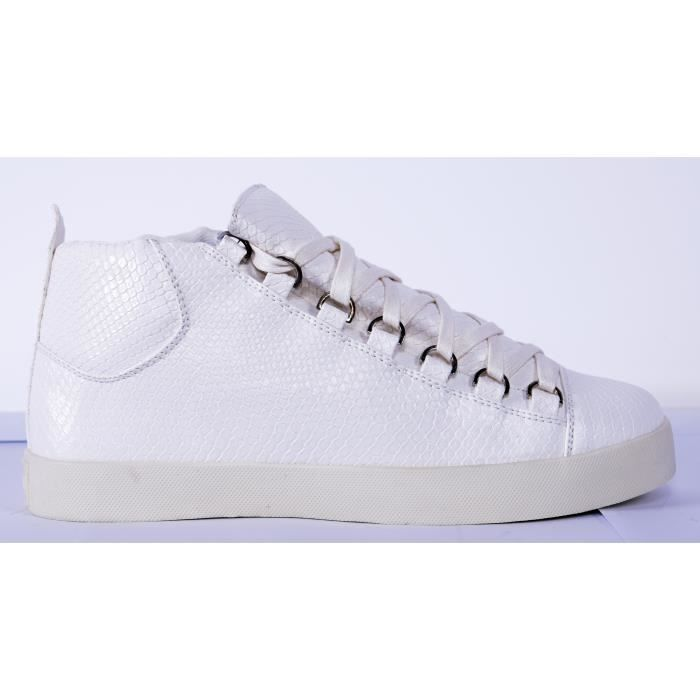 Sneakers Hautes Blanc Gov Denim 008-3W