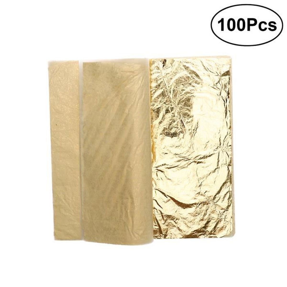 10 feuilles d/'or pur alimentaire 43 mm X 43 mm 24 carats 100/% veritable