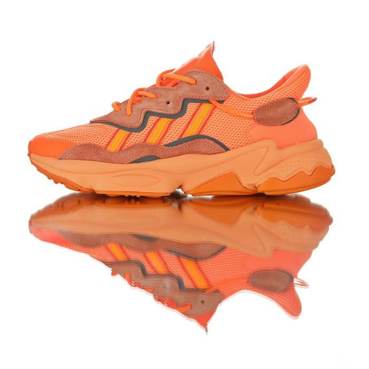 Baskets Adidas Ozweego adiPRENE Orange Homme Femme Running ...
