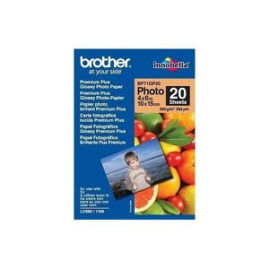 BROTHER Papier photo brillant - 10x15 - 20 feuilles
