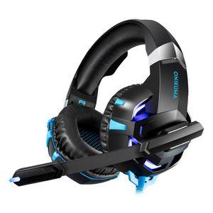 CASQUE RÉALITÉ VIRTUELLE ONIKUMA K2A Gaming Headset Stereo Gaming Casque fi