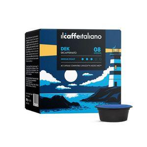 CAFÉ 100 Capsules  de Café Dek compatibles avec machine