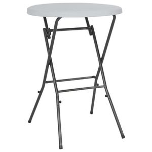 TABLE DE JARDIN  Festnight Table de Bar Pliable Table de Jardin Tab