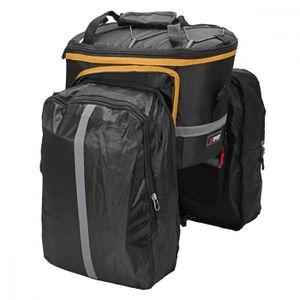 Sacoche pour porte-bagage v/élo argent//noir Red Loon Pro sac /à dos ensemble de 3 sacs toile type camion imperm/éable