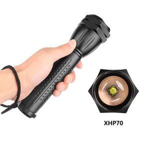 LAMPE DE POCHE Puissante lampe de poche LED XHP70 zoomables LED L