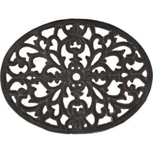 DESSOUS DE PLAT  Dessous de Plat Repose Plat Ovale Fonte 23,50 cm