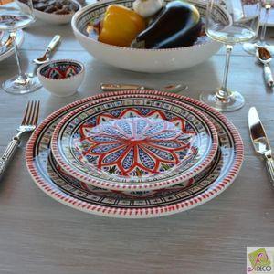 SERVICE COMPLET Service de table Bakir rouge - 12 pers