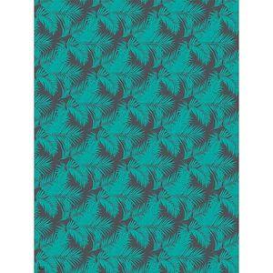 PAPIER CRÉATIF Feuille decopatch n°756 - Feuilles tropicales vert