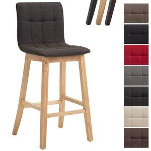 TABOURET DE BAR CLP Tabouret de bar BREGENZ en tissu, chaise haute