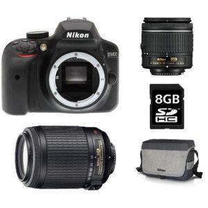 APPAREIL PHOTO BRIDGE Nikon Appareil Photo Reflex D3400 Noir + Objectif