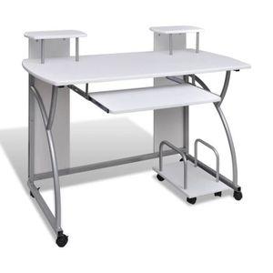 BUREAU  Table de Bureau Table d'Ordinateur avec étagère 12