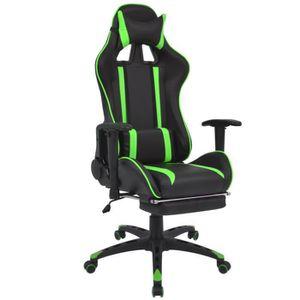 CHAISE Chaise de bureau inclinable avec repose-pied Vert