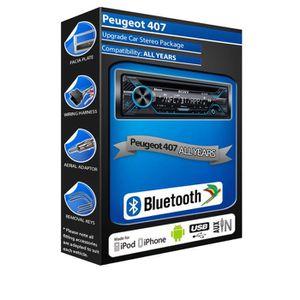 AUTORADIO Peugeot 407 CD player, Sony MEX-N4200BT car stereo
