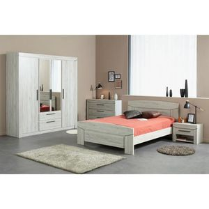 Chambre adulte complet 140x190 achat vente chambre for Soldes chambre adulte