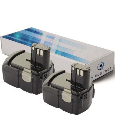 Lot de 2 batteries 18V 3300mAh pour Milwaukee 6514-20 Société Française –