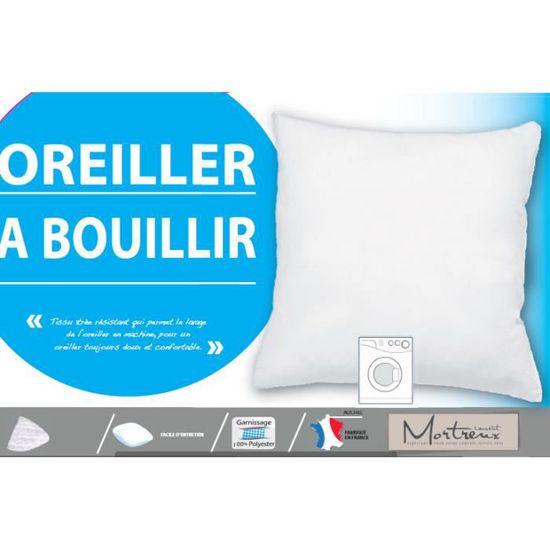 Polyester Blanc laurentmortreux Lot de 2 oreillers 60x60