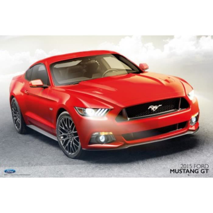 voitures poster ford mustang gt 2015 61 x 91 achat vente affiche cdiscount. Black Bedroom Furniture Sets. Home Design Ideas