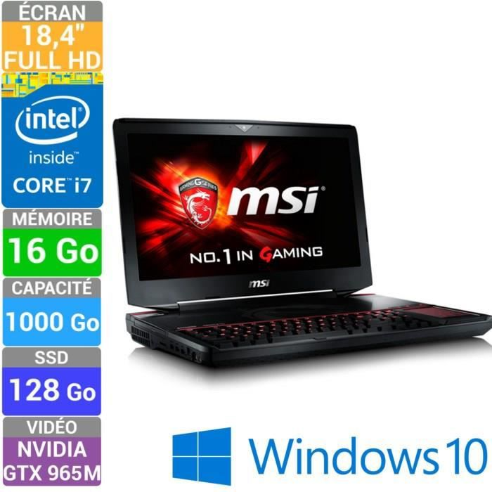 msi pc portable gamer gt80 2qc titan sli 423fr prix pas. Black Bedroom Furniture Sets. Home Design Ideas