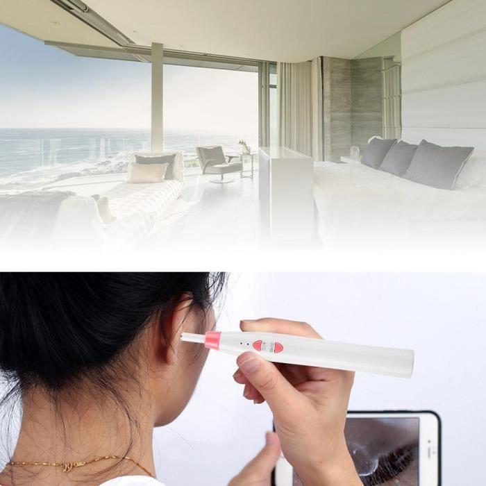 Caméra d'inspection des oreilles endoscope nettoyage oreilles WiFi 1 million pixels WiFi (Bleu)-TIM