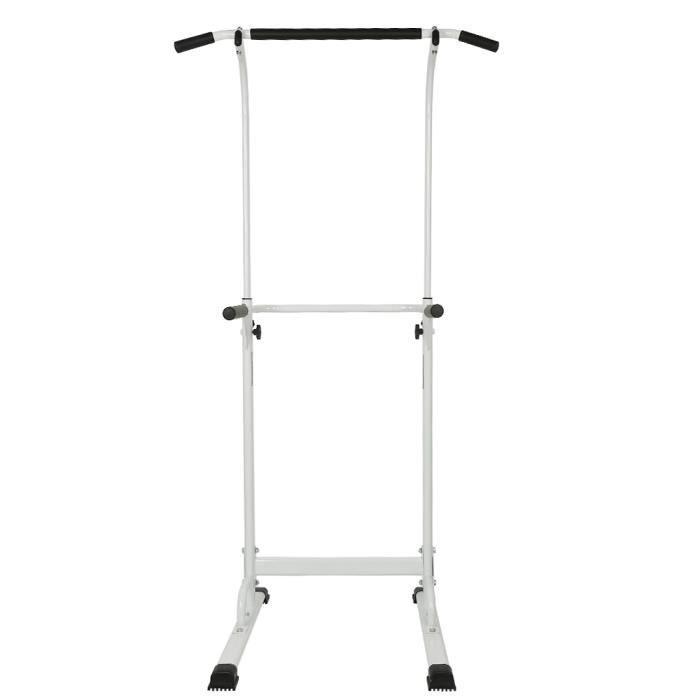 Barre de traction Fitness musculation Pull up bar ,Blanc, hauteur ajustable 180-190cm