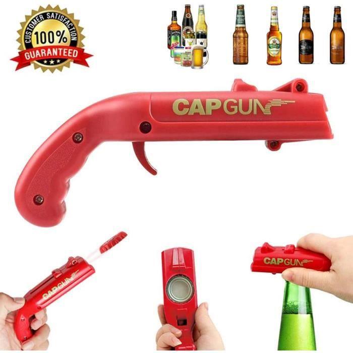 Décapsuleur de bouteilles lanceur de capsules en forme de pistolet ouvre-bouteille