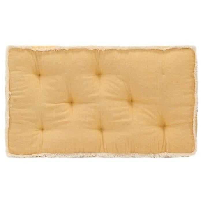Haute qualité Coussin de canapé palette - Coussin extérieur Coussin de sol Grand Confort Galettes de chaise Jaune ®MAEXNN®